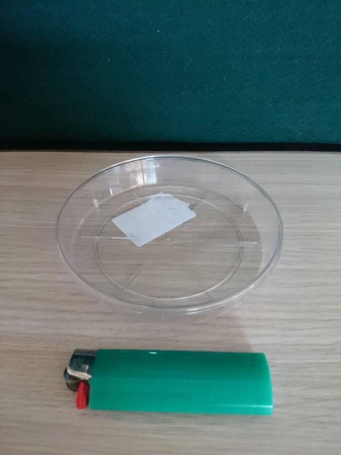 Поддон пластиковый прозрачный D12