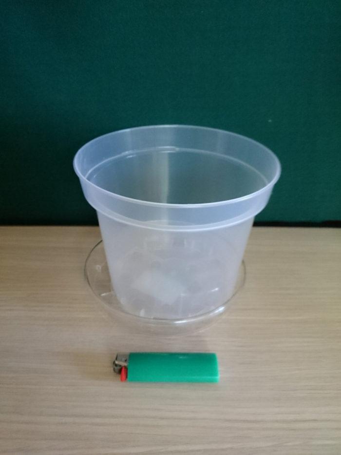 Горшок пластиковый прозрачный D17