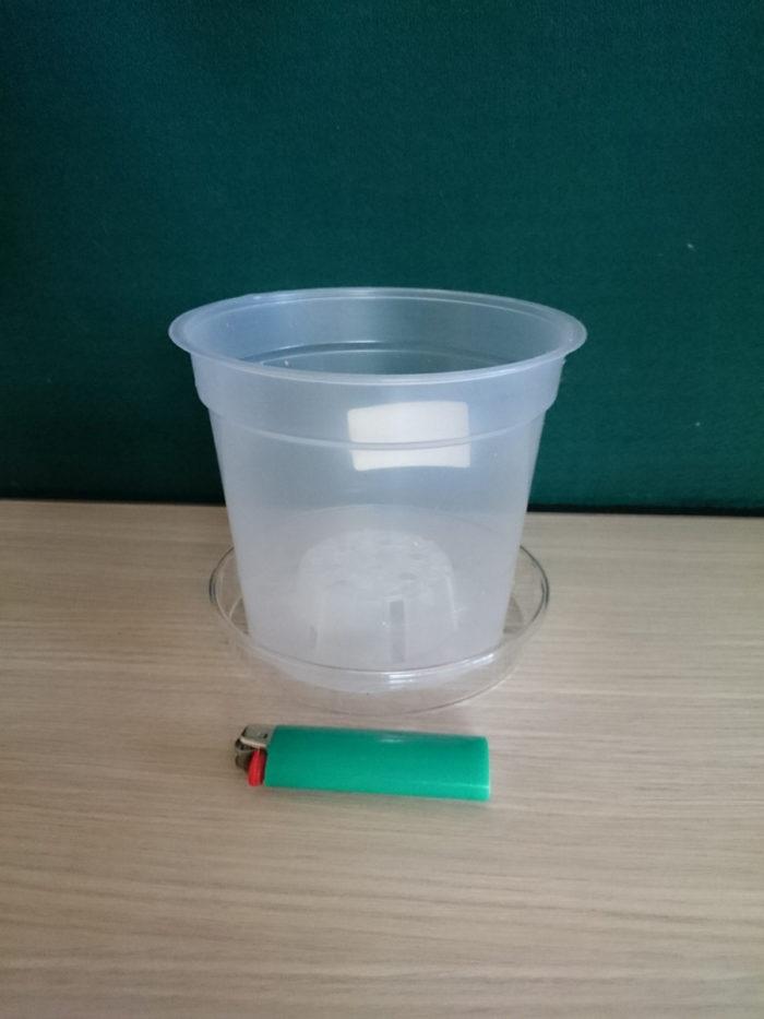 Горшок пластиковый прозрачный D15