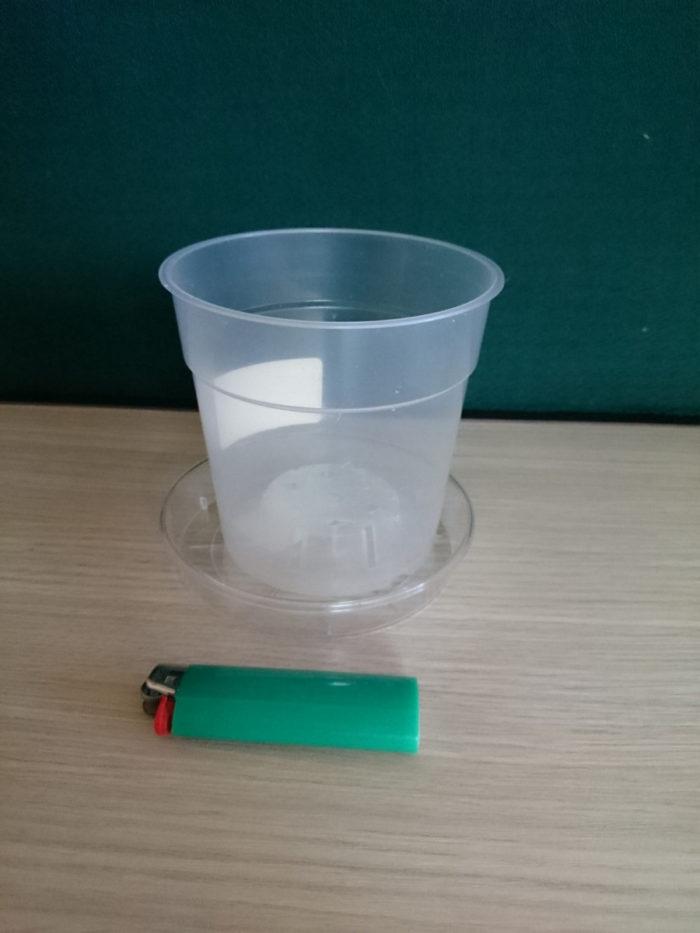 Горшок пластиковый прозрачный D12