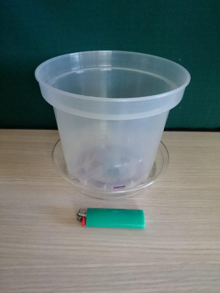 Горшок пластиковый прозрачный D19
